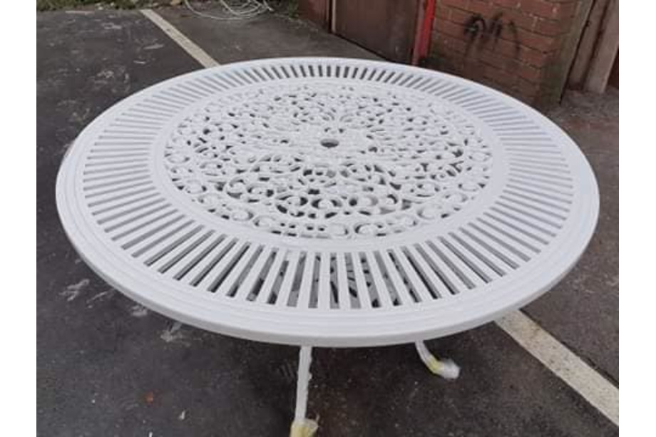 After Powder Coating- Cast Alloy Table
