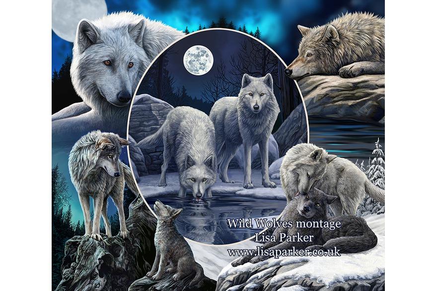 wolf artwork by magical artist Lisa Parker