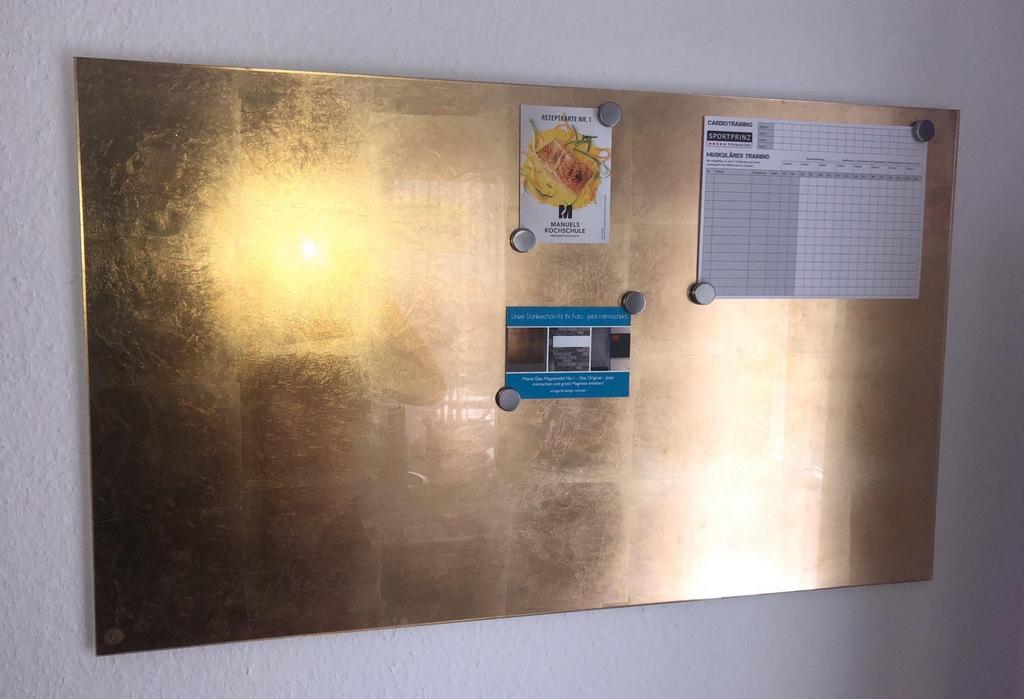 Goldene Glas-Magnettafel No.1 - Das Original