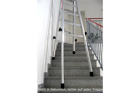 Teleskopleiter leiter für treppen treppenleiter