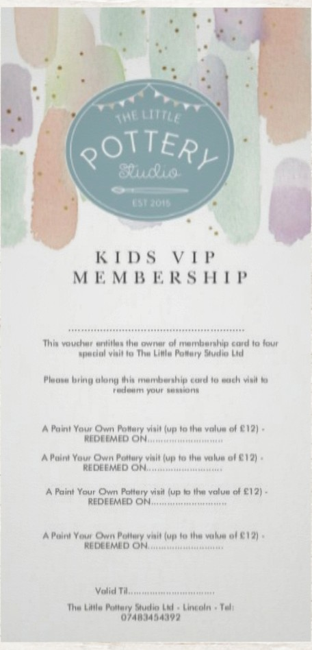 KIDS VIP MEMBERSHIP CARD