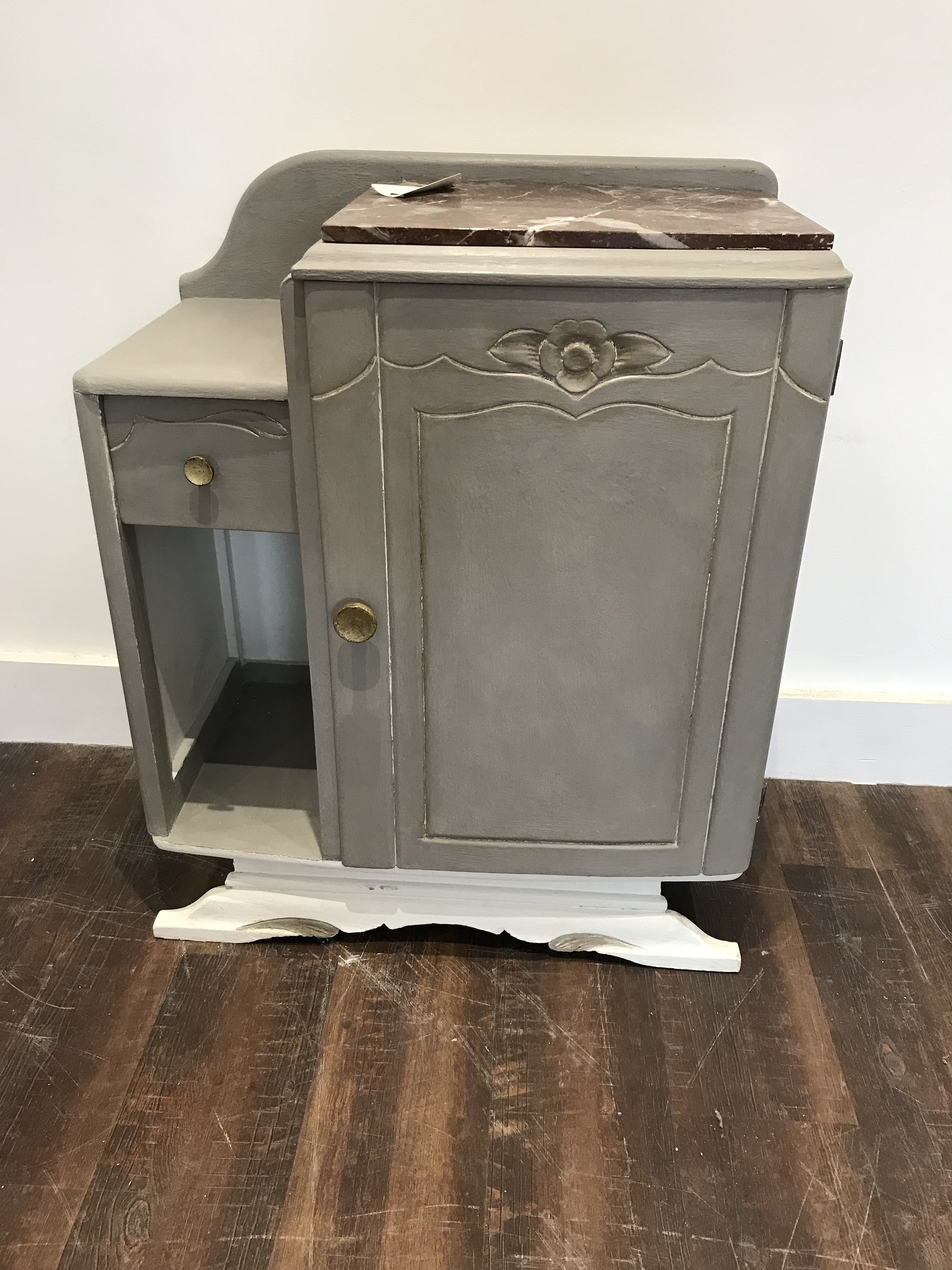 Marble Top Pot Cupboard