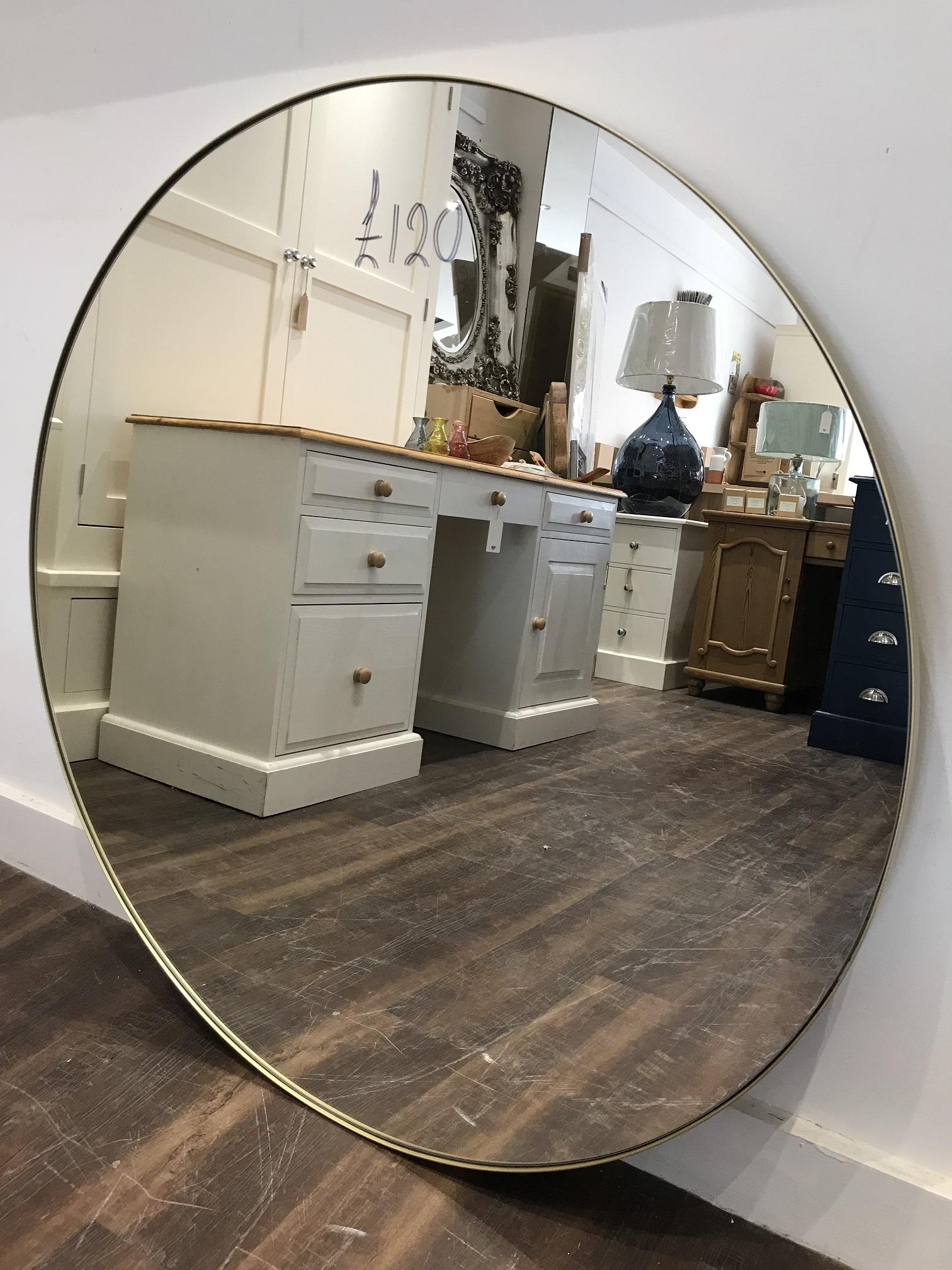 Thin Metal Round Mirror