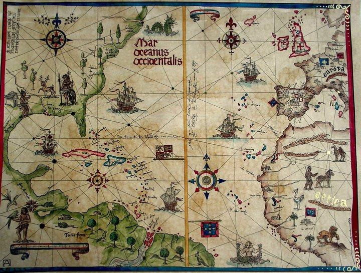 mapa tratado tordesillas