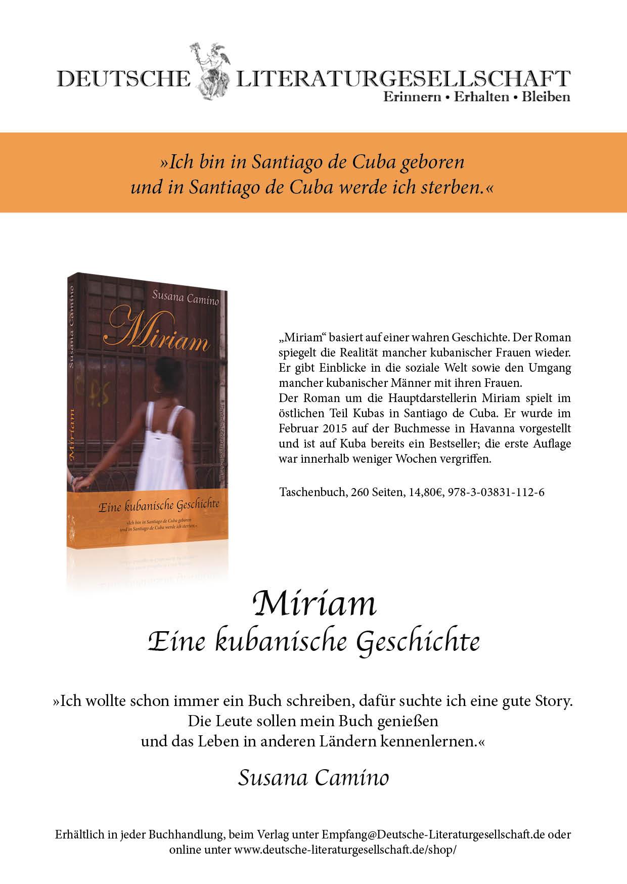 Miriam, Eine kubanische Geschichte