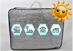 Aluminetz Aluminet | 85% Schattenrate | 6x4,3 Meter | inkl. Transporttasche | Gratis Versand innerhalb Deutschland! EU Versand auf Anfrage!