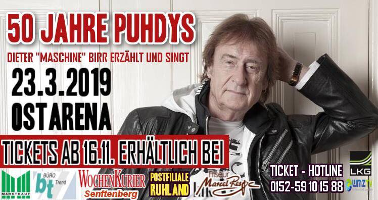 Ticket 50 Jahre Puhdys