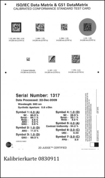 GS1 Datamatrix Kalibrierkarte