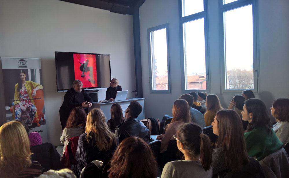 Armando Pollini durante il workshop in IFDA