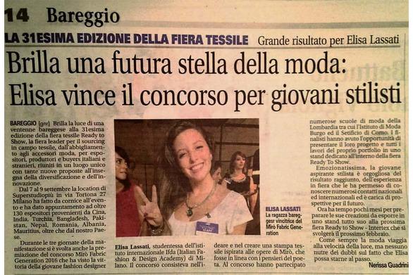 Elisa Lassati vince il concorso
