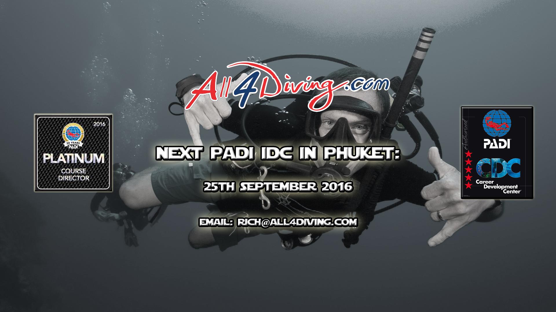 PADI IDC Thailand, Phuket, Platinum Course Directo