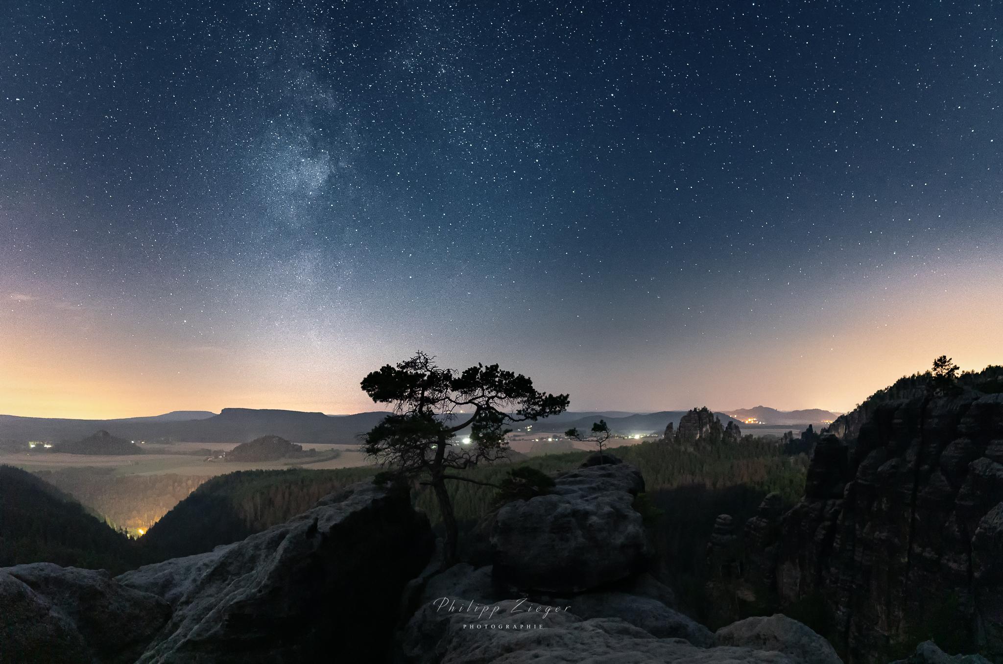 Panorama aus 2 horizontalen Bilder