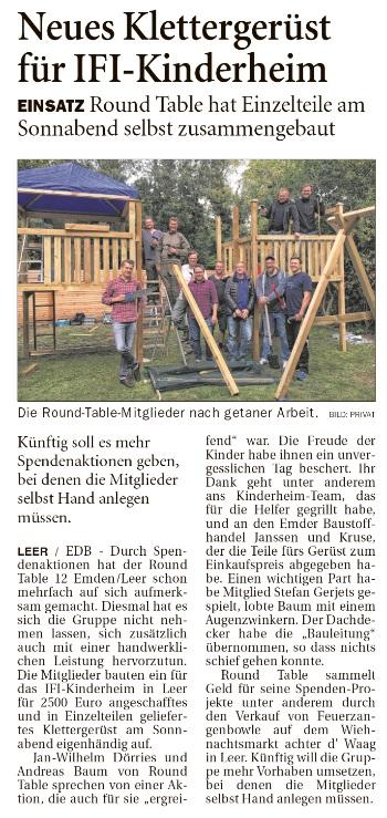 Quelle: Ostfriesen-Zeitung vom 18.09.2018, S. 17