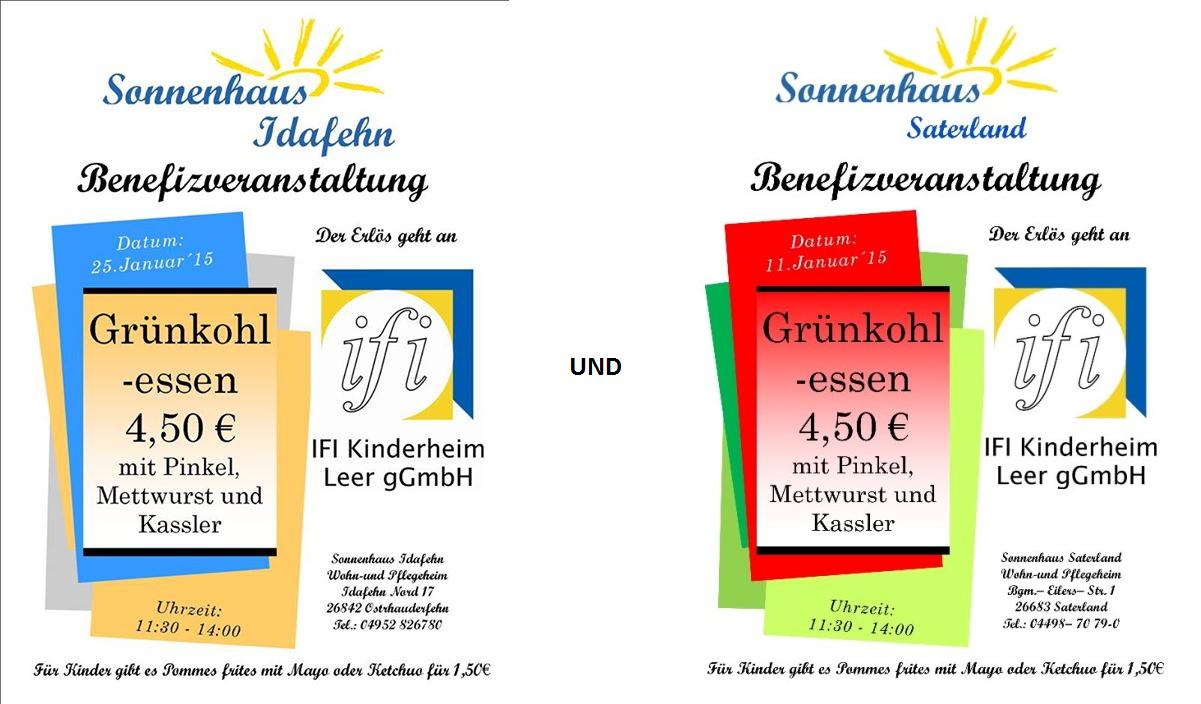 Flyer Grünkohlessen Sonnenhaus 2015