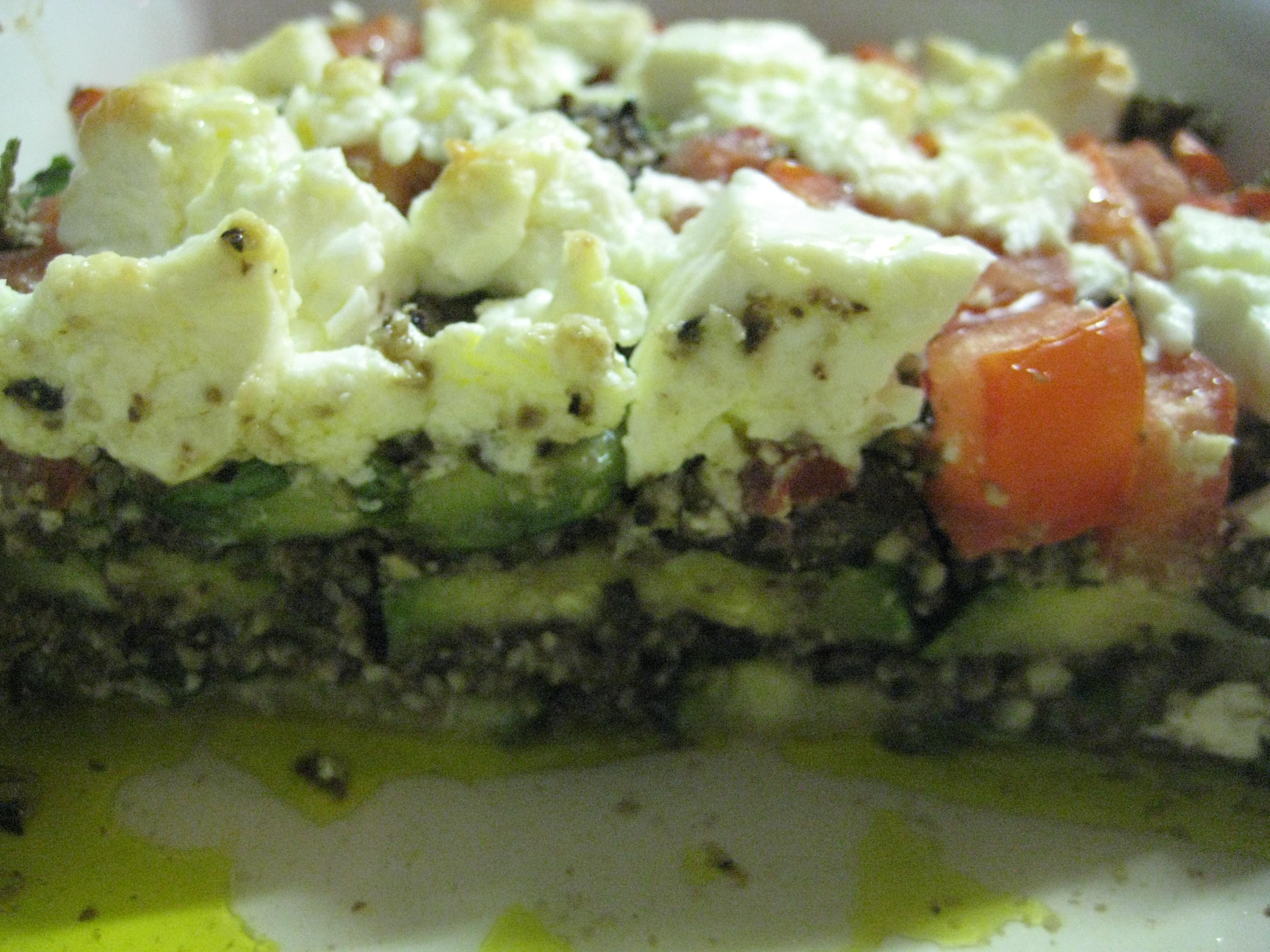 Schafkäse Zucchini Auflauf