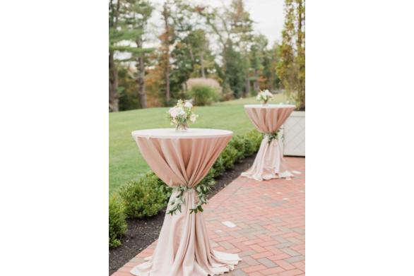 Blush Linen on Poseur Tables