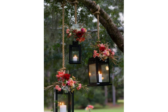 Hanging Lanterns with Florals