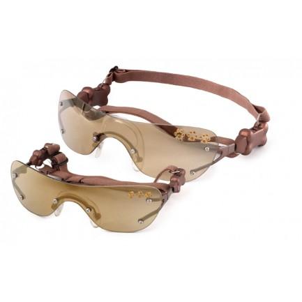 lunette bronze strass