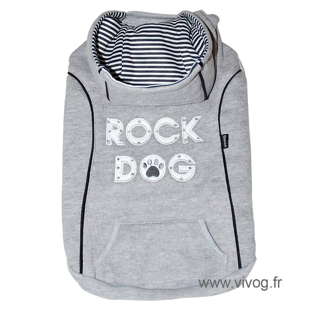 Sweat rock dog noir longueur 50 cm