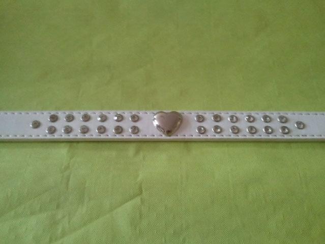 collier blanc strass