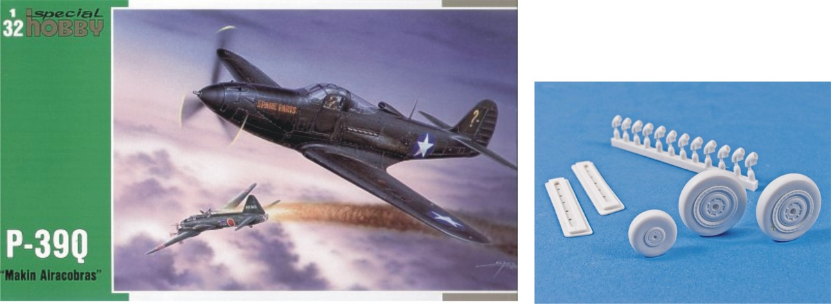 MST32027X Bell P-39Q Airacobra with resin wheels and exhausts