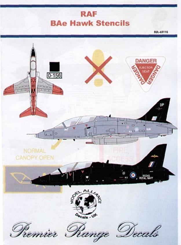 48116 BAe Hawk T.1 Stencils