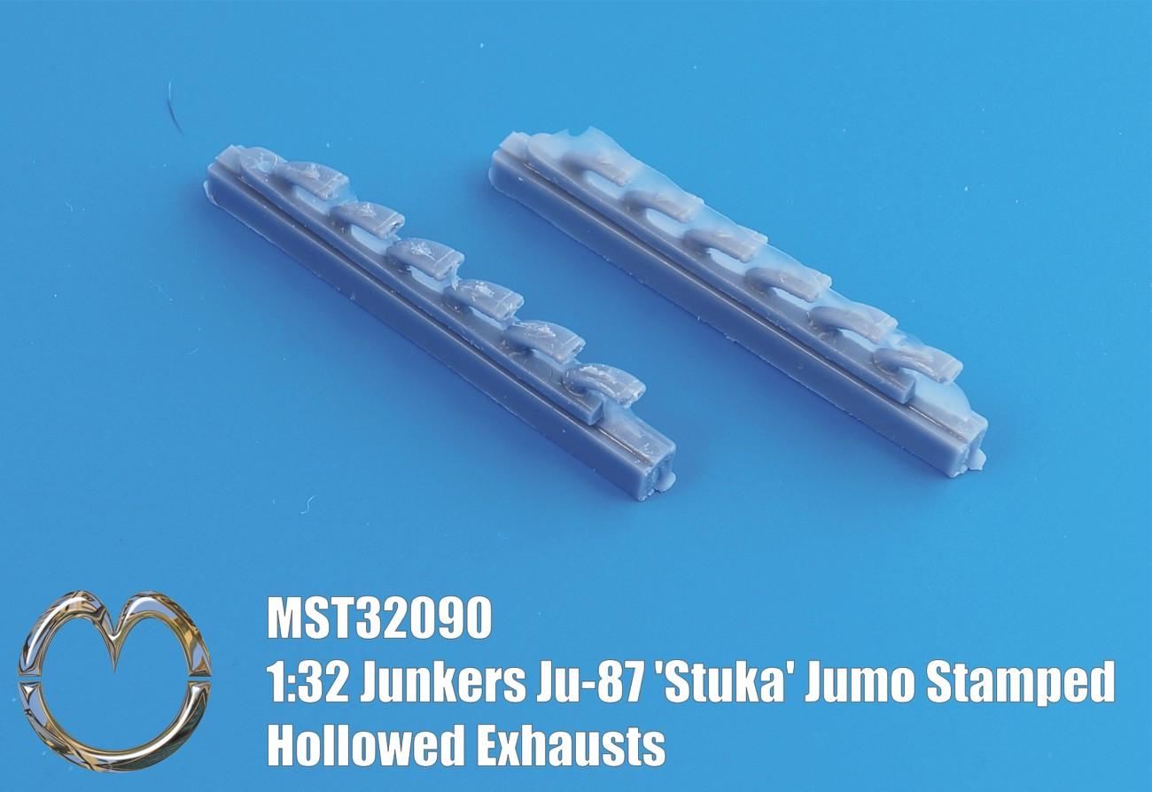 32090 Junkers Ju-87 'Stuka' Jumo Stamped Hollowed Exhausts