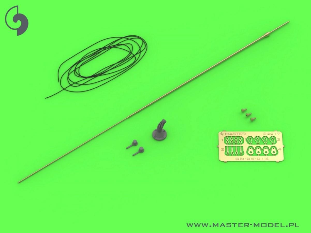 MASTER 1:35 GM35014 KTO Rosomak Comrod VHF3088VM Antenna