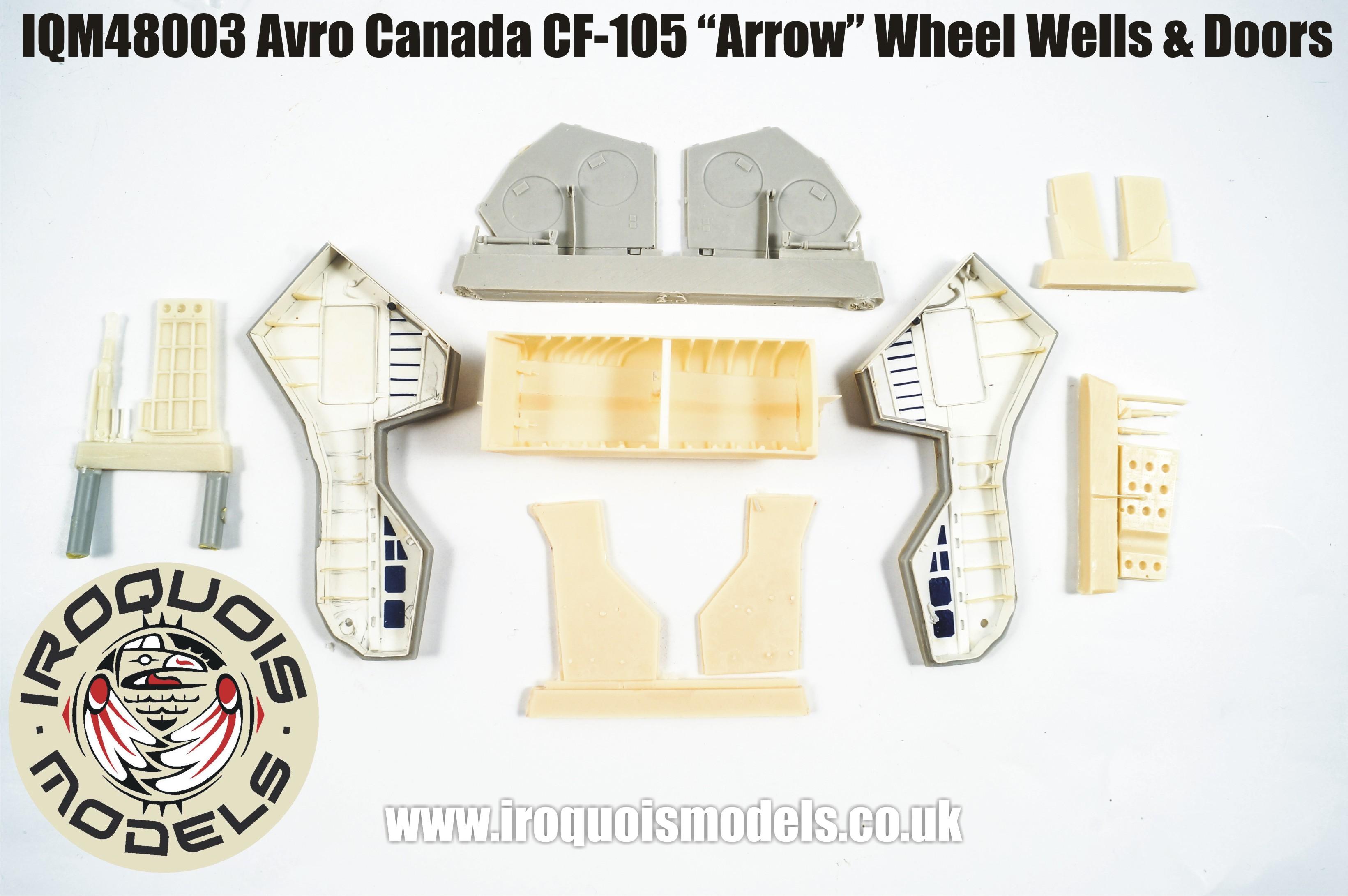 IQM48003 Avro-Canada CF-105 Avro Arrow wheel wells and doors set