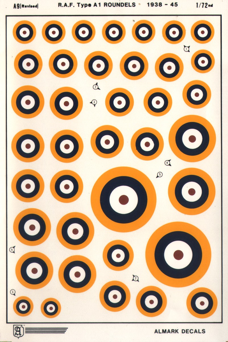 A9 RAF Type A1 National Insignia / Roundels WWII