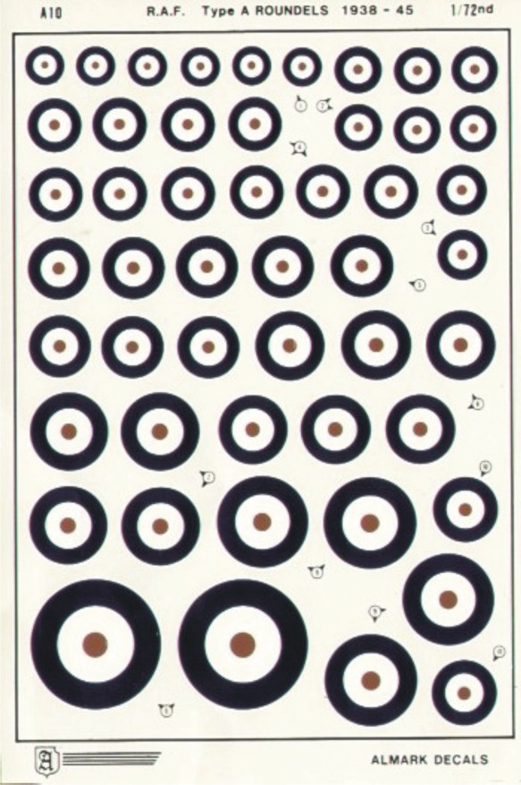 A10 RAF Type A National Insignia / Roundels