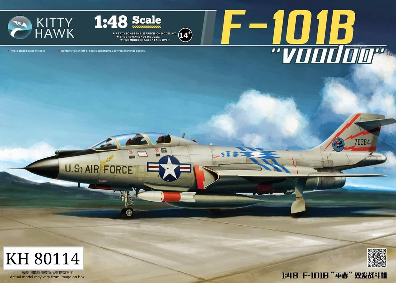 Kitty Hawk 1:48 McDonnell F-101B / CF101B Voodoo