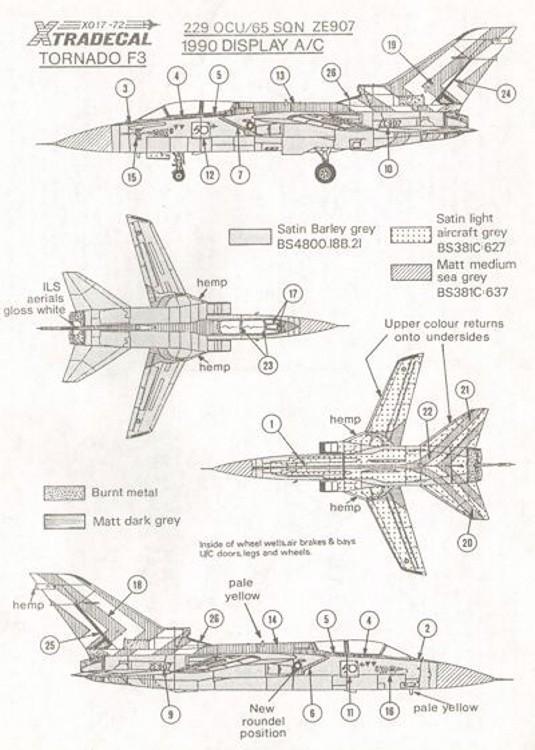 X72017 1:72 Panavia Tornado F.3 1990