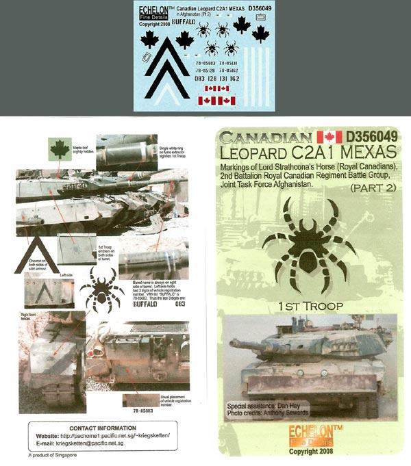 Echelon Decals Canadian Leopard MBT C2A1 MEXAS markings (Pt2)