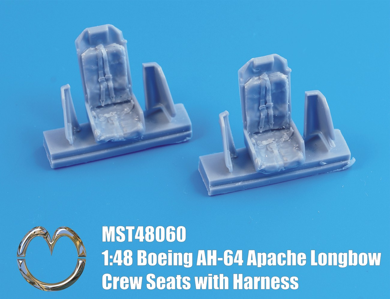 MST48060 Boeing AH-64 Apache Longbow Crew Seats with Harness