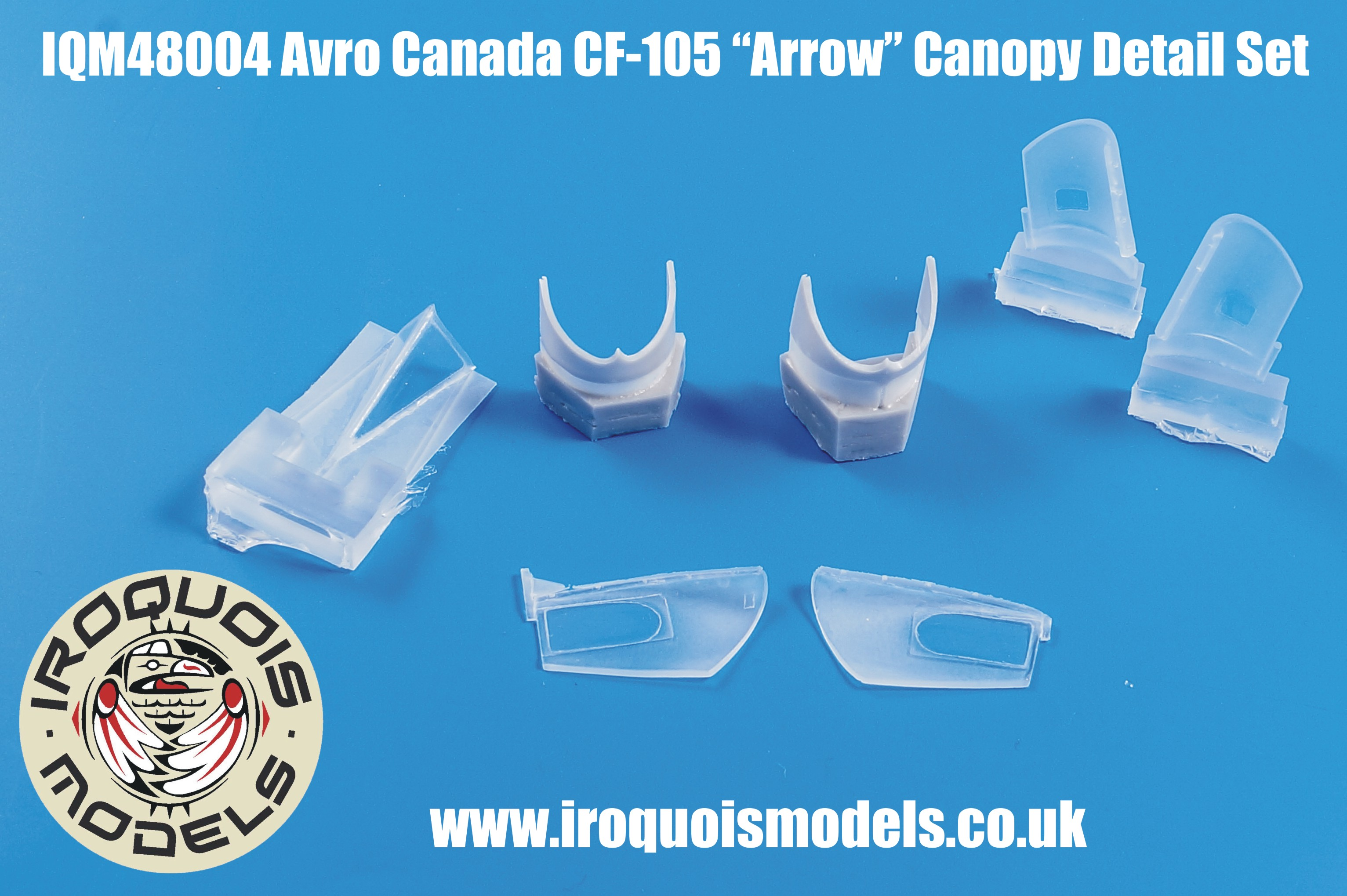 IQM48004 Avro-Canada CF-105 Avro Arrow open canopy set
