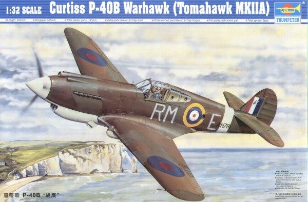 Trumpeter 1:32 Curtiss P-40B Tomahawk Warhawk (Tomahawk MK.IIA)