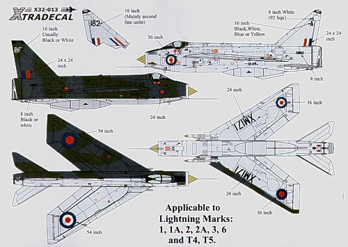 Xtradecal X32013 1:32 BAC/EE Lightning Customising decal