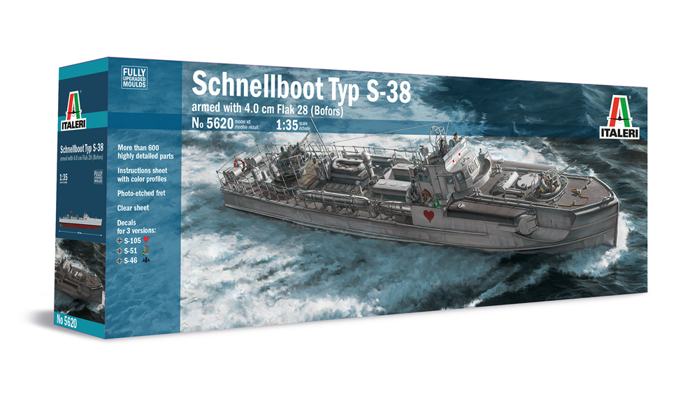 Italeri 1:35 Schnellboot S-38 FULLY UPGRADED MOULDS