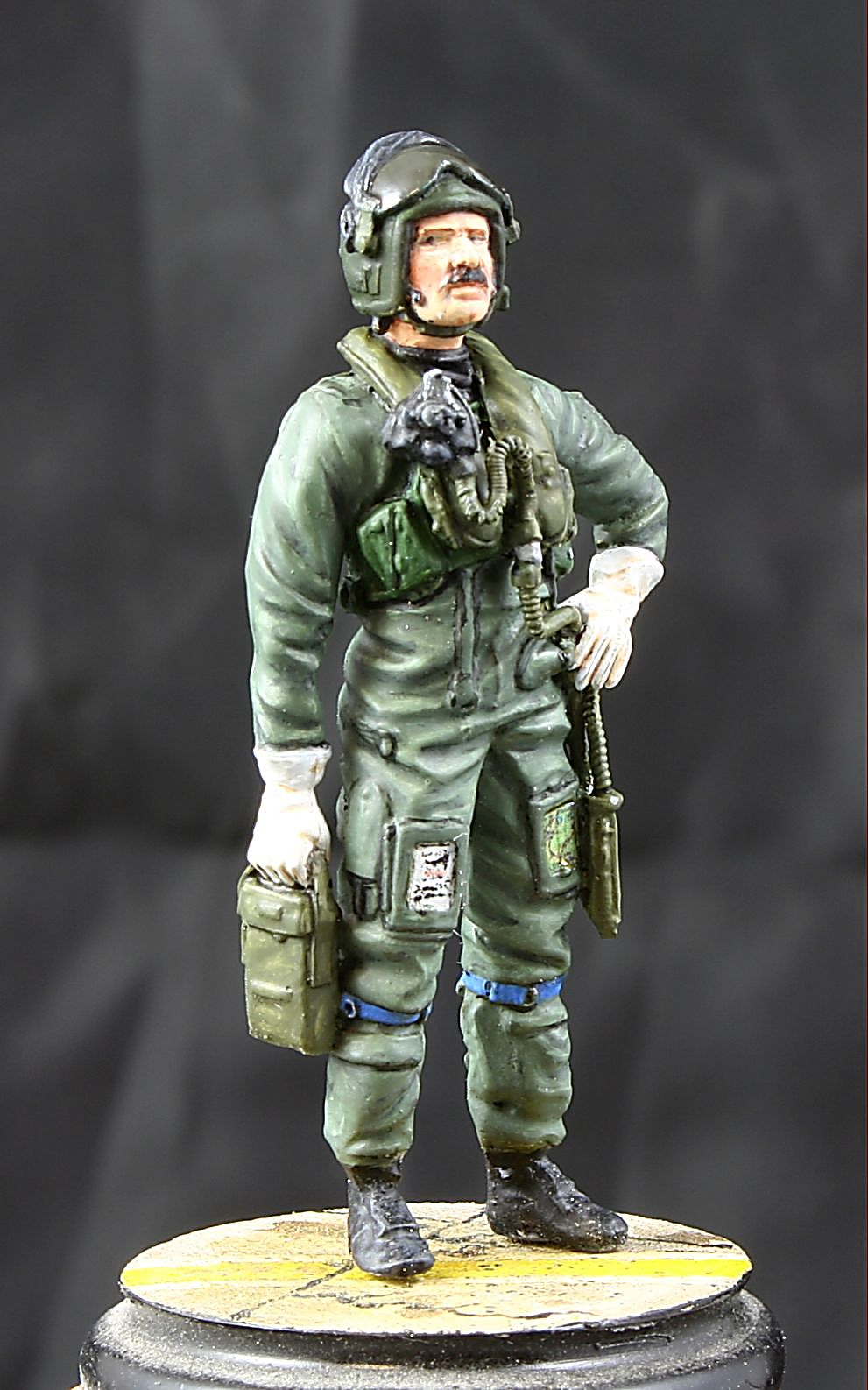 MST32028 RAF Pilot Standing. In Immersion suit