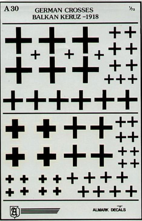 A30 German WWI Crosses / Balkan Kreuz 1918