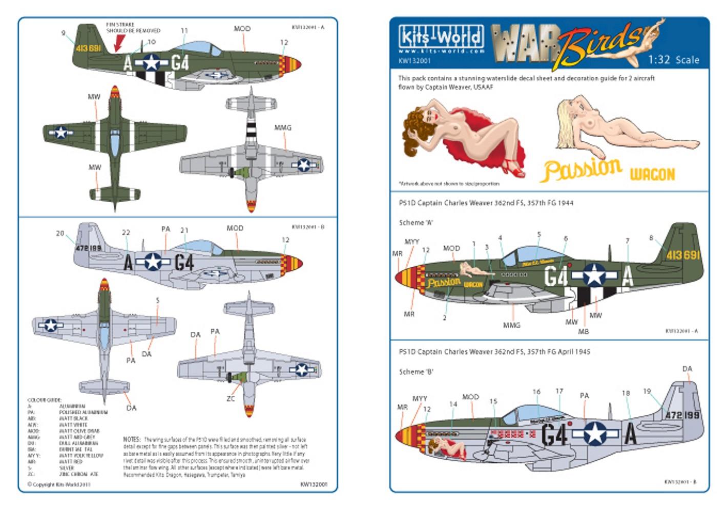 132001 North-American P-51D Mustang