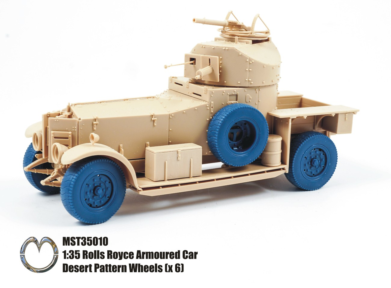 MST35010 Rolls Royce Armoured Car Desert Pattern Wheels (x6)