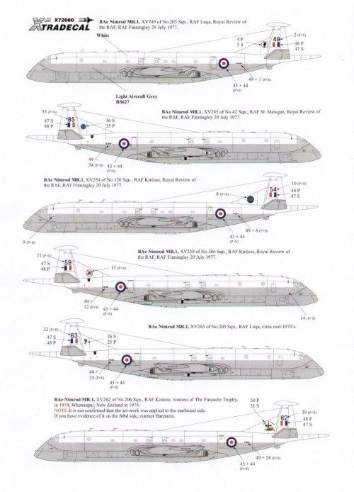 BAe Nimrod MR.1 / MR.2 / MR.2P / R.1. Decals