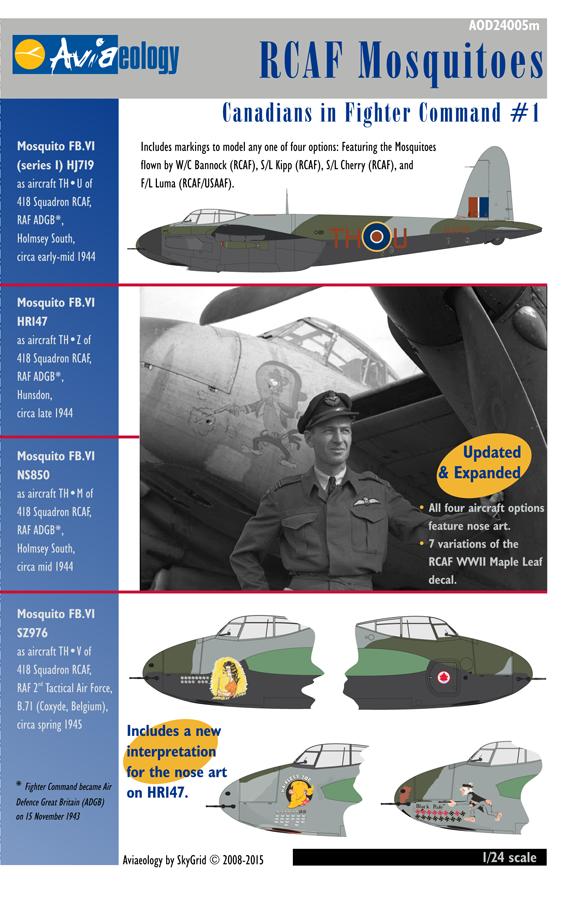 Aviaeology 1:24 RCAF de Havilland Mosquito