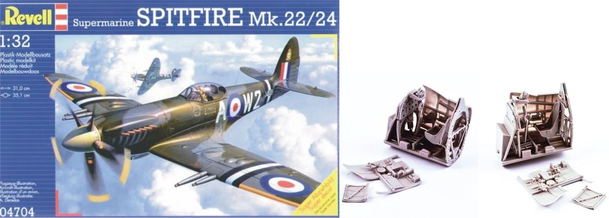 MST32045X Spitfire Mk 22/24 Cockpit Detail set Combo