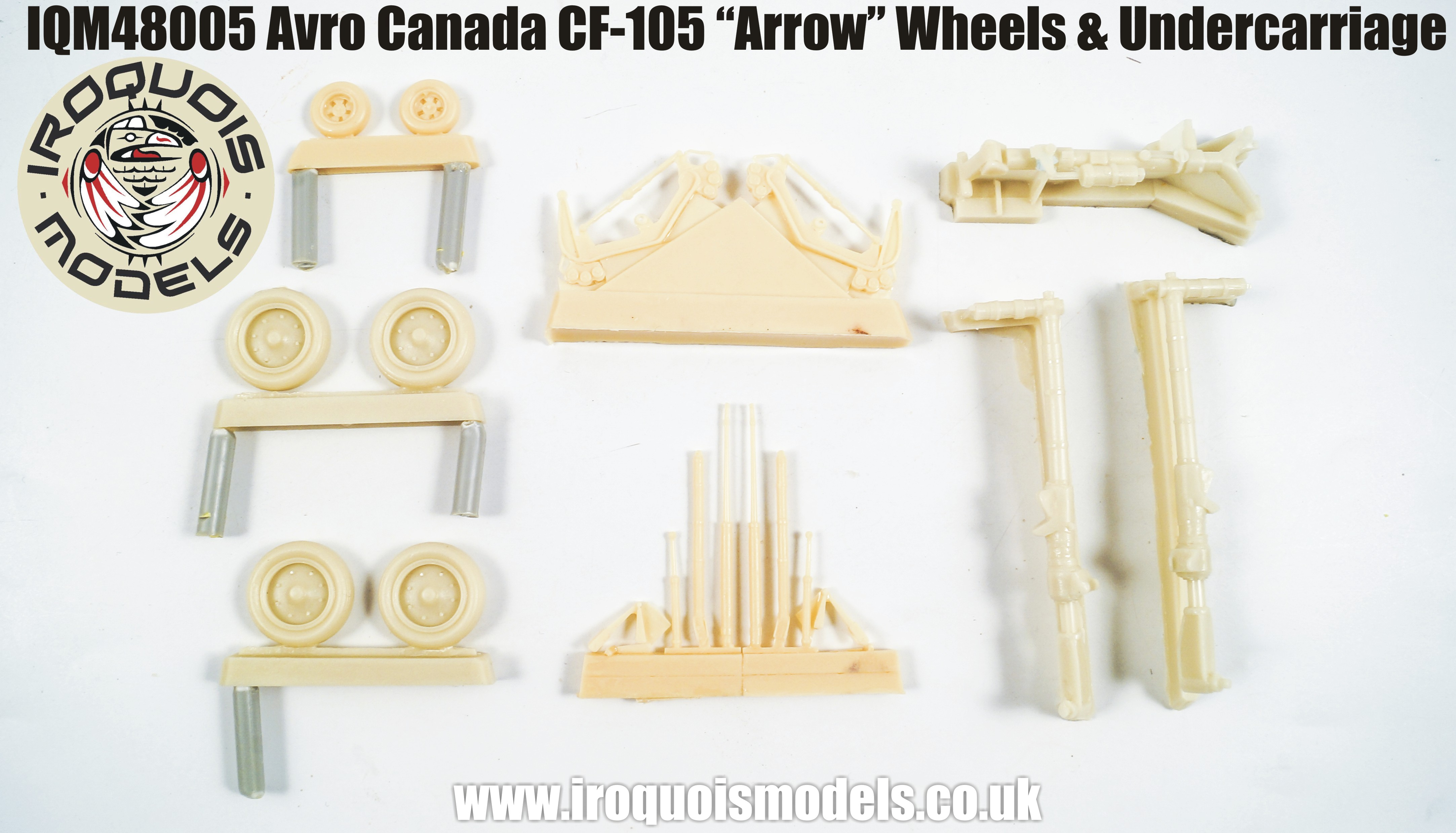 IQM48005 Avro-Canada CF-105 Avro Arrow wheels and undercarriage set