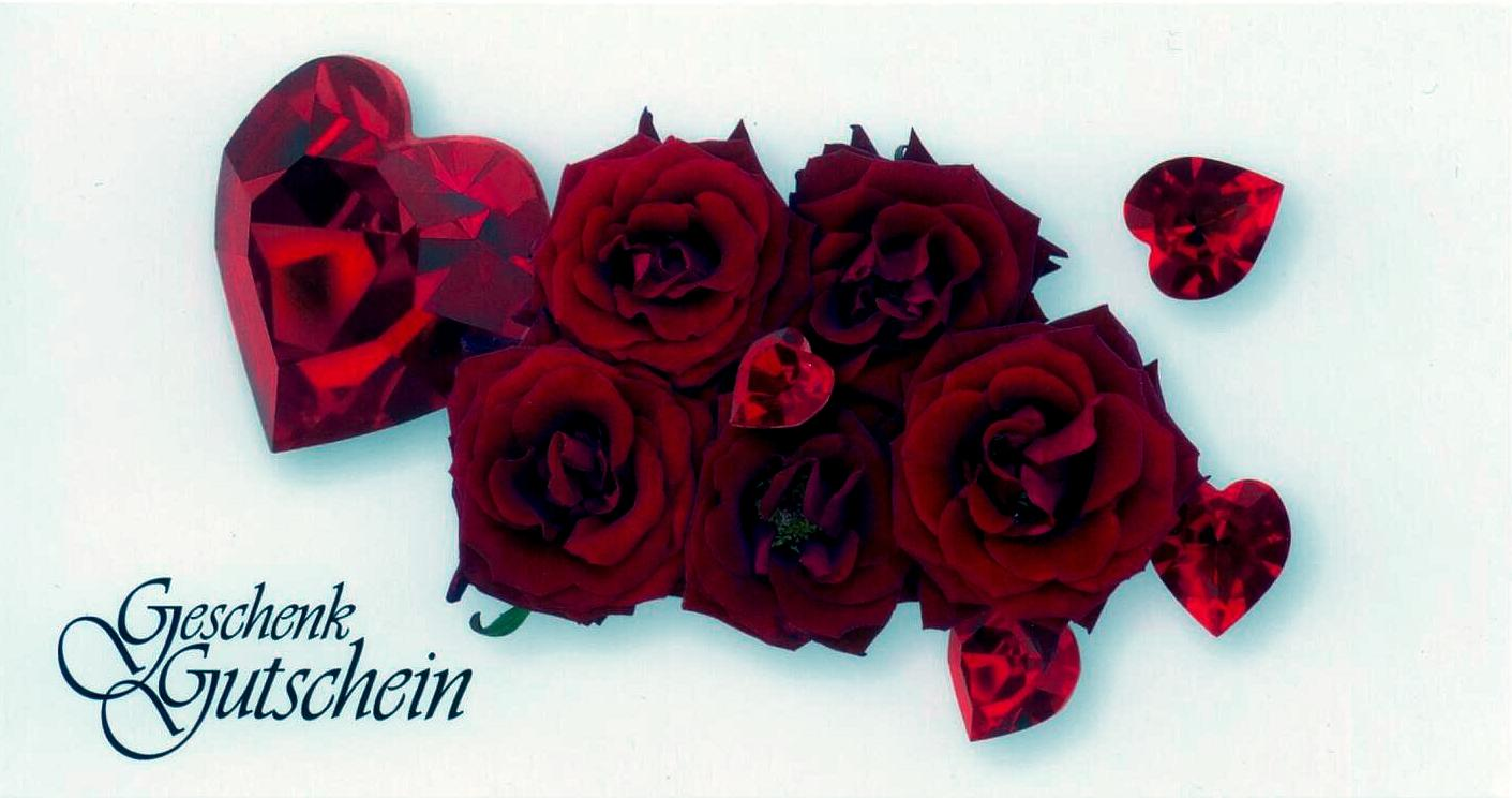 Geschenkgutschein Motiv Rosen