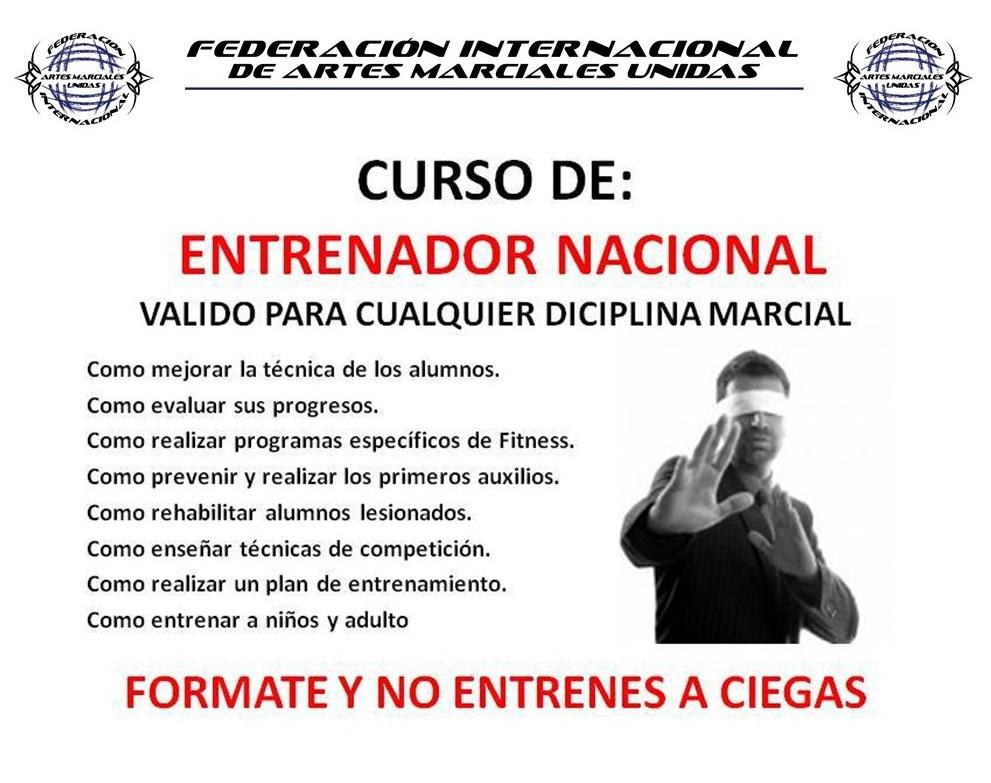 CURSOS DE ENTRENADOR NACIONAL