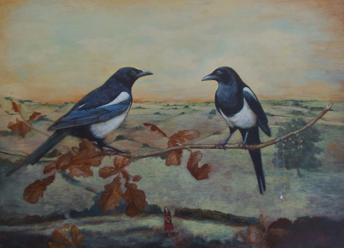 Magpies - Greeting Card